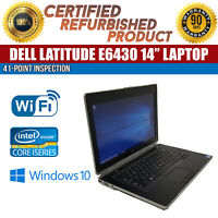 "C Grade Dell Latitude E6430 14"" Intel i5 8 GB RAM 320 GB HDD Win 10 WiFi Laptop"