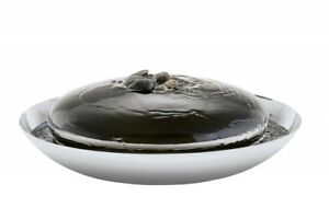 Philippi Design Spring Room Fountain New/Boxed Stainless Steel 38cm Incl. Stone