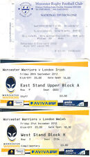 WORCESTER RUGBY TICKET GROUP of 3 v LONDON IRISH & WELSH