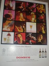 Domecq Sherry Unrivalled Masters advert 1964 ref AY