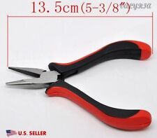 Stainless Steel Chain Flat Nose Pliers Crafting Beading Jewelry Making Tools