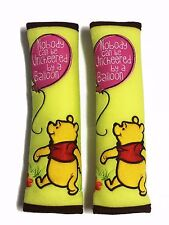 Winnie the Pooh Disney Car Accessory 2 pcs Seat Belt Shoulder Pad Covers #Lime