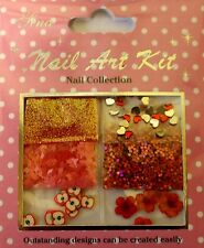 """Nail Art Kit 09"" 3D Set Rot dekoration Herze - Blüten -  Glitter - Fimo"
