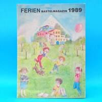 Ferienbastelmagazin | Bastelbogen | Junge Welt 1989 Basteln DDR Jungpioniere A