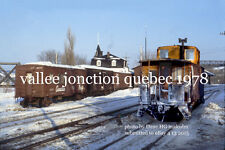 "Canadian Pacific Railway    Vallee Jonction Quebec  1978 4x6"" photo a"
