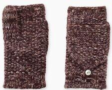UGG 100 Cashmere Flip Mittens Knit Gloves Port Heather Color One Size