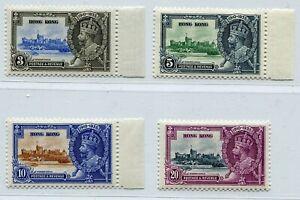 HONGKONG 1935 GV SILVER JUBILEE SET SCOTT 147-150 SG 133-136 PERFECT MNH