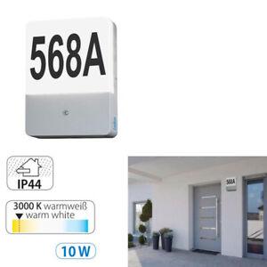 NEU LED Aussenlampe Aussenleuchte mit Hausnummer automatischem Dämmerungs Sensor