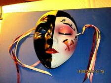 Black and white ceramic mask musical notes, very nice