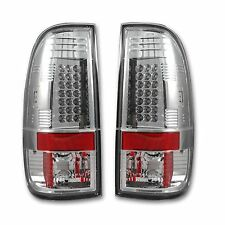 RECON 264176CL Ford SuperDuty F-250/350/450/550 08-16 Clear-Red Tail Lights LED