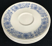"Royal Doulton Cranbourne Set Of 3 Replacement Saucers 6.25"" Made In England"