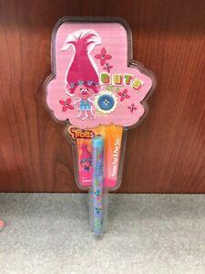 Trolls Poppy Memo Pad and Pen Set, Sealed New, Girls Stocking Stuffer, School