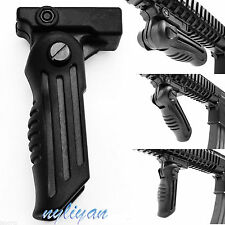 Multi Adjustable Folding Foldable Rifle Foregrip Fits Picatinny/Weaver Rail Grip