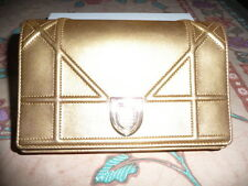 Dior, Diorama Wallet on Chain Pouch in bright metallic gold