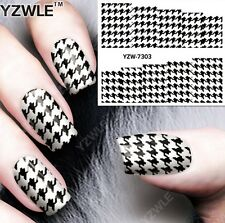 Black & White design Nail Art Sticker Decal Decoration Manicure Water Transfer