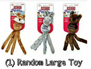 (1) LG Kong Wubba Friends Squeaky Dog Toy - Randomly Picked FOX, BEAR OR RABBIT