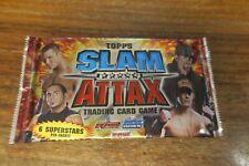 1 BOOSTER DE 6 CARTES  -   TOPPS  SLAM ATTAX  / CATCH  -- TRADING CARD GAME
