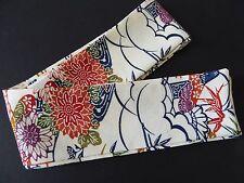 "Japanese Obi Belt Vintage Silk Kimono Fabric 84"" x 3""/Made in USA"