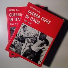 Storia della guerra civile in Italia. 1943-1945. Pisanò. Voll. II - III. Ed. FPE