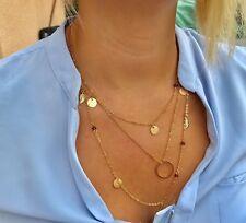 Sautoir/Collier+Bracelet de Cheville,Tao du Tibet,Chaine Fine,Acier Couleur Or