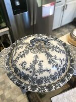 Antique W.T. Copeland And Sons Serving Bowl w/ Lid c.1867-1970 AS IS See Photos