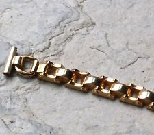 Deco ladies yellow gold vintage watch band 6mm 7mm 8mm 9mm 10mm 11mm or 12mm end