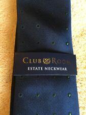 Club Room Estate Neckwear Men's Neck Tie Macy's 3.25 x 61 Blue Green Dot NEW