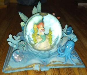 Disney Wonders Within Ariel Little Mermaid Snowglobe Hallmark Deep Sea Dreamer