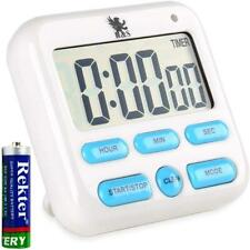 Magnetic Large LCD Digital Kitchen Timer Countdown for Cooking Loud Clock Alarm