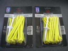 "New Zero Friction ZFX 3 1/4"" FOUR PRONG (2 packs of 30) LEMON LIME golf tees"