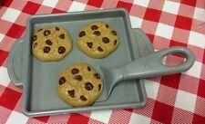 VTG Mattel Fisher Price Pretend Play Food Chocolate Chip Cookie Baking Sheet Set