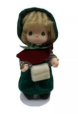 """Precious Moments 11"""" Tall Fabric Christmas Doll With Stand Free Shipping"""