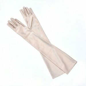 MISM Satin Women Long Gloves Female Ladies Prom Party Evening Opera Driving