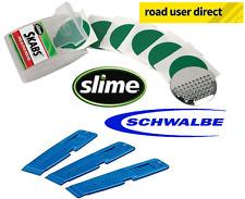 Schwalbe Tyre Levers & Slime Skabs Pre Glued Bike Puncture Repair Patches