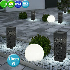 7x LED Solar Lampen Außen Deko Stanzung Strahler Hof Garten Kugel Steck Leuchten