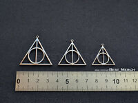 Harry Potter Necklace stainless steel Deathly Hallows Pendant merch logo symbol
