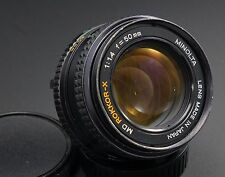 Minolta 50mm F/1.4 Rokkor-X MD Moun Lens, lubricated and de-clicked for video
