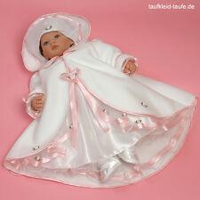 Taufkleid mit Hut und Taufmantel für Taufe,Taufkleider Taufkleidung 3-teilig ♥