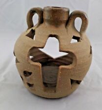 Rustic Jug Cross Candle Holder Hand Made