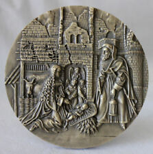 NATIVITY/ Angels/ 2000 CHRISTMAS Large Bronze Medal by Alves André / M62