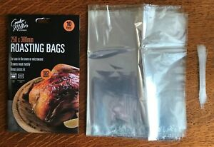 Pack 10 Oven Roasting Bags Cooking Food Storage Microwave Meat Beef Stew Kitchen