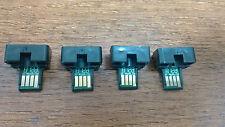 4 x toner reset chip Sharp MX-C30GTB, C30GTC, C30GTM, C30GTY for MX-C250F C300W