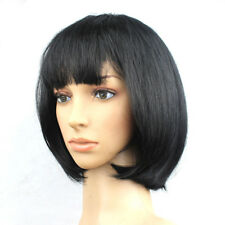 New Ladies Fashion Synthetic Front Ombre Wigs Short Straight Bob Hair Wig