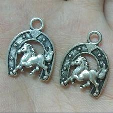 10pc Retro Tibetan Silver horse Charm Beads Pendant accessories Findings HJ0008