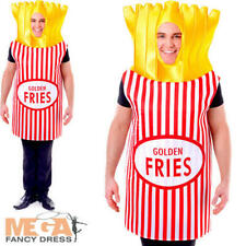 French Fries Adults Fancy Dress Potato Chips Fun Fast Food Stag Costume Outfit