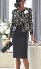 Ashro Black White Formal Wedding Party Church Joyce Jacket Dress Size 6 8 10 24W