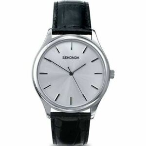 Sekonda Men's Classic Round Silver Dial Leather Strap Watch 3099