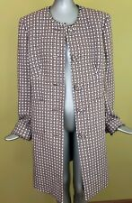 i.e. Womens Tweed Long Button Down Jacket Coat