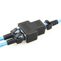 RJ45 Splitter 1 bis 2 Dual Port CAT5/CAT6 LAN Ethernet Steckdose Steckverbi L0T7