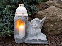 Engel Figur Grablaterne Grablampe Grableuchter Grablicht Grabschmuck Kerze Grab